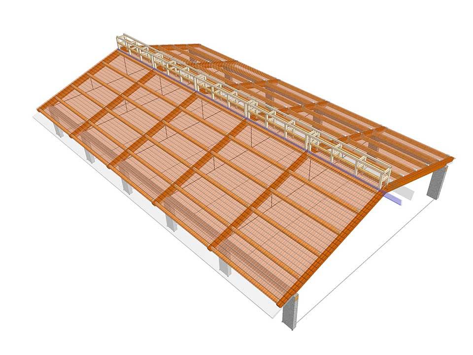 SAN POSSIDONIO (MO) - realizzazione di una copertura in legno per azienda Agricola